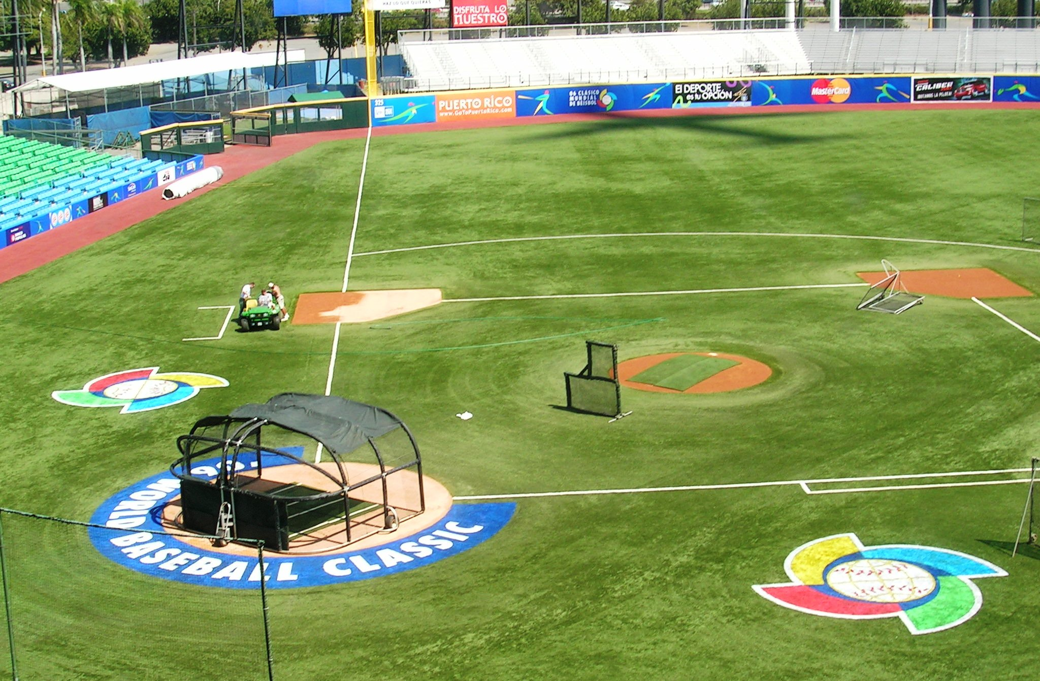 Baseball field grass wallpaper