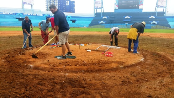 mound prepping in cuba